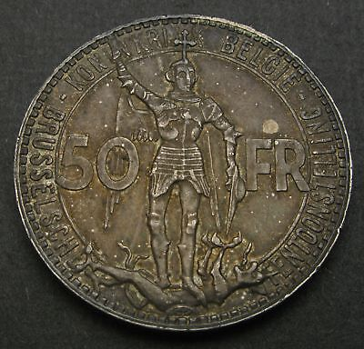 BELGIUM 50 Francs 1935 - Silver - Leopold III. - Brussels Exposition - VF - 395