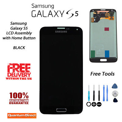 NEW Samsung Galaxy S5 (SM-G900F) LCD & Digitiser Assembly with Home Button BLACK