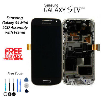 NEW Replacement OEM Samsung Galaxy S4 Mini i9195 LCD & Digitiser w/Frame BLACK