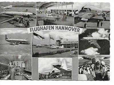 Airport postcard-Hannover Germany Multi View