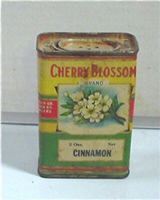 Unusual!! Cherry Blossom Brand Cinnamon Spice Tin Alpena (Michigan )Grocer Co.