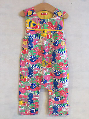 BNWOT Multicoloured Pattern Dungarees - 18-24 Months