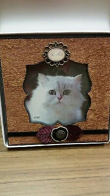 Cat Fur Ball Embellished Picture Frame New in Box