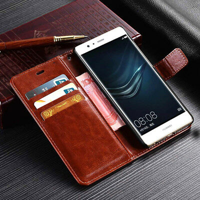 For Huawei P8 P9 P10 Lite Honor 20 Pro Magnetic Leather Wallet Flip Case Cover