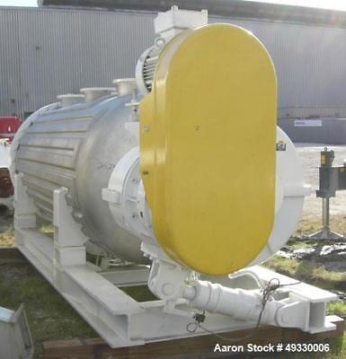 Used- Buss Rotary Vacuum Dryer, Type S6300, 316 Stainless Steel Product Contact