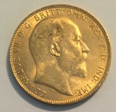 1909 Great Britain Full Gold Sovereign - Edward VII (London Mint)