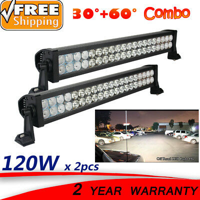 22inch 2 x 120W LED Light Bar Off Road 4WD truck Boat Work Lamp Buggy headlight