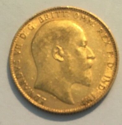 1910 Great Britain Gold Sovereign - Edward VII (London Mint)