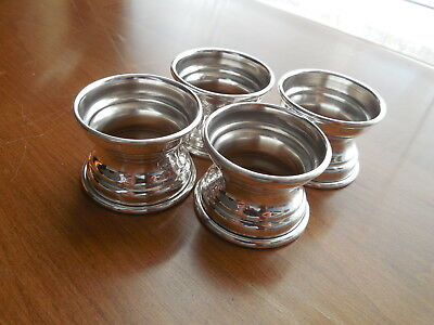 Elegant Sterling Silver Napkin Rings ~ Set of 4 ~ Thick & Sturdy