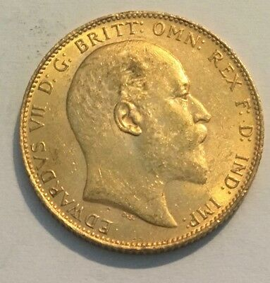 1907 Great Britain Gold Sovereign - Edward VII (London Mint)