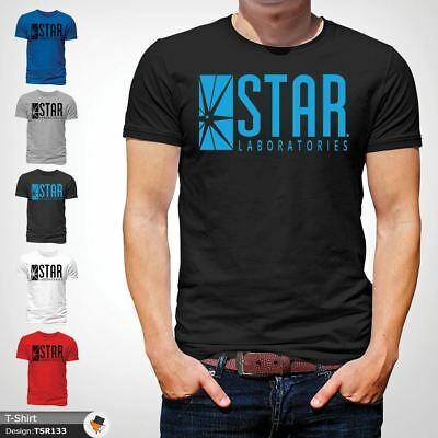 STAR Laboratories T Shirt Top The Flash S.T.A.R. Labs  GIFT T-SHIRTS Black