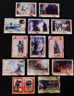 Vintage 1980 Topps Star Wars/Empire Strikes Back Trading Cards (Lot of 13)