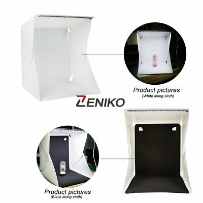 Mini Photo Studio Light Box Photography Backdrop LED Lightroom Portable Light
