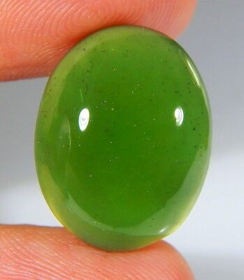 18 Ct Top Natural Green Emerald Color Serpentine Jade Oval Cabochon Gemstone A64