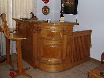Custom wood bar from HISTORIC court house in Boston Must Look