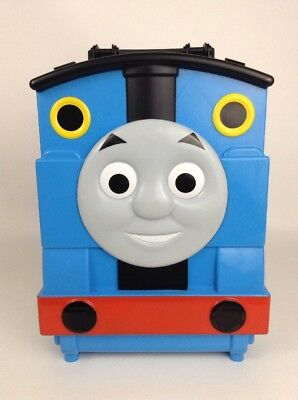 Mattel 2012 Thomas and Friends Toy Train Vehicle Carry Case/ Playset Blue Track