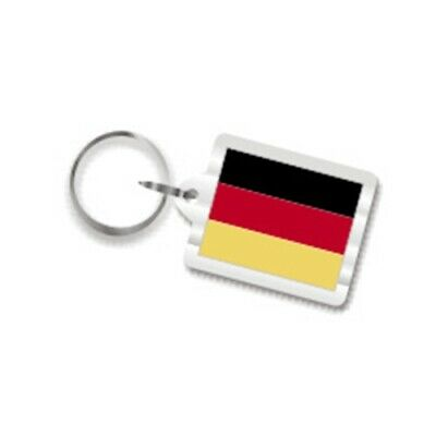 German Flag Key Chain, Keychain Fob Ring from Germany