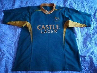 2003 2004 Men's Nike South Africa Springboks Rugby Union Shirt Jersey XL