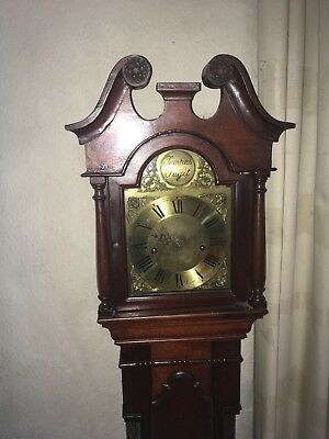Small Antique Grandfather/grandmother Clock Working