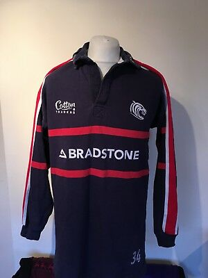 """Player Issue #34 Leicester Tigers Rugby Union Jersey Shirt XL Mens 46"""" Chest"""