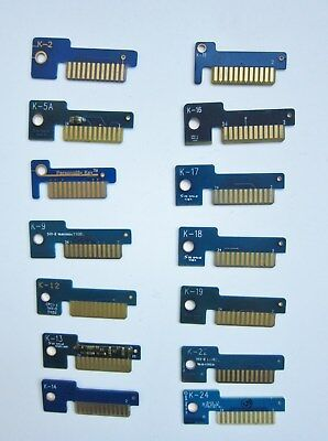 Snap-on 14 Personality Key Lot includes 2,5A,7,9,12,13,14,15,16,17,18,19,22 & 24