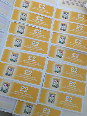 SMA PRO TODDLER MILK 800g £2 Off COUPONS/ VOUCHERS X 15 (£30 worth of vouchers)