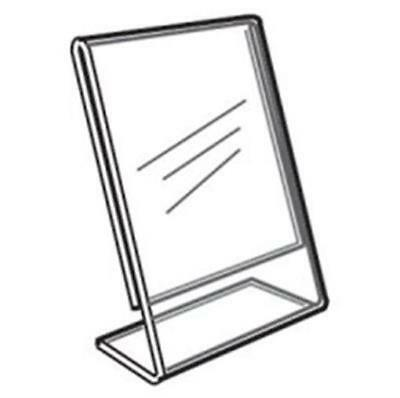 Acrylic Slanted Counter Sign Photo Display Holder Stand 8.5 x 11