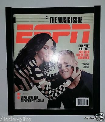 Magazine Display Frame Case Black Shadow Box ESPN Rolling Stone BH03-BL