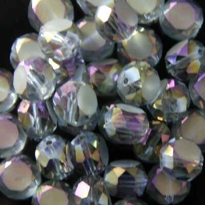 10 Pcs 10mm Swaro Flat drum crystal bead D hyaline-purple