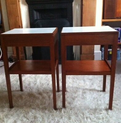 Pair Of Remploy Mid Century MOD bedside Cabinets. Courier Collection Facilitated