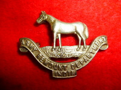 Indian Army - Army Remount Department India Cap Badge