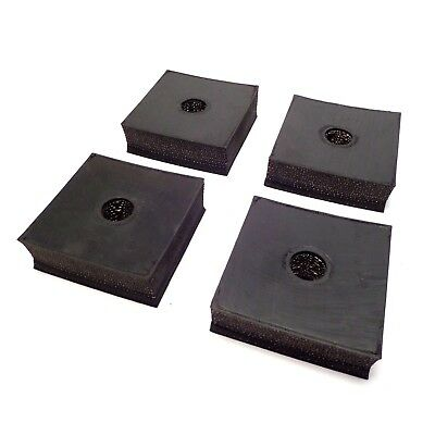 4-PK Anti-Vibration Pads for Air Compressors- 3 x 3 x 1 w/FREE SHIPPING USA-Made