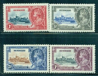 ST. VINCENT 134-37 SG142-45 MH 1935 KGV Silver Jubilee Issue set of 4 Cat$9