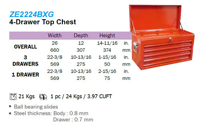 Liquidation - 4-Drawer Top Chest 2224BXG