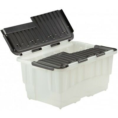 Duracrate Storage Boxes - Clear & Black - 40 Litre - Pack of 5