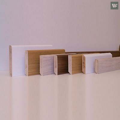 Engineered Real Wood Skirting - Oak / Walnut / Ash / Maple - Made to order SALL
