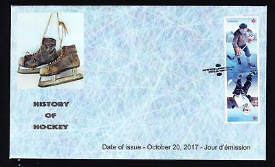 Canada 2017 limited edition FDC History of Hockey tête-bêche booklet pair