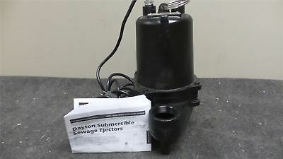 Dayton 4HU79 4/10 HP 1750 RPM 120VAC Manual Submersible Sewage Pump