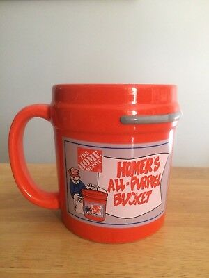 Home Depot mug Homer's All Purpose Bucket collectible orange coffee cup