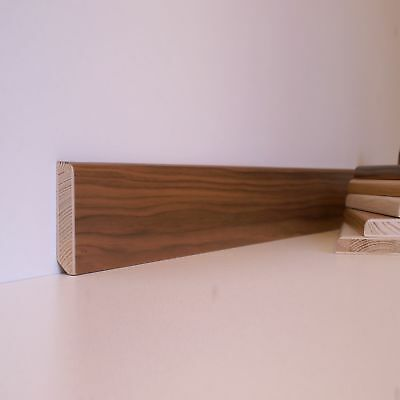Engineered American Walnut - Real Wood Skirting Board - Pencil round edge SWL8