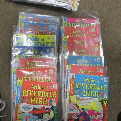 Archie at Riverdale High Comic Book       mixed lot  Lot 0f 19