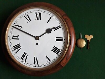Antique Mahogany Services Naafi Wall Clock With A Smiths Enfield 8-Day Movement