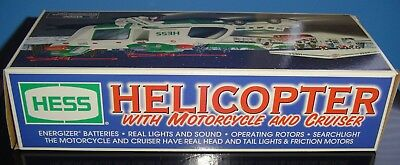 Hess Helicopter 2001 Motorcycle & Cruiser (NIB) Hess Helicopter 2001 Mint In Box
