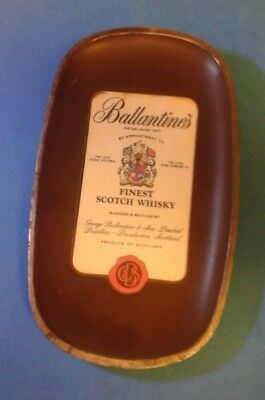 vintage  ballantine's  scotch  whisky  tip tray  collectable