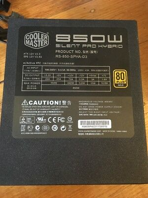 CoolerMaster SilentProHybrid 850W Modular Power Supply 80Plus Gold #SundayMarket
