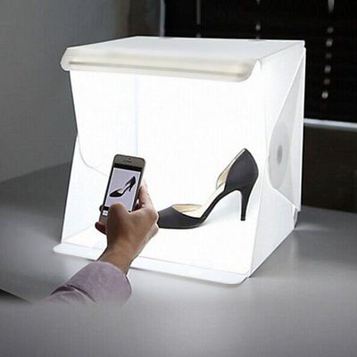 Depthlan Folding Photo Studio Kit Box with LED Light for Photographing Shooting