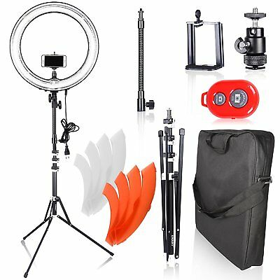 Emart Ring Light Photography Camera, 18 inch 75W Dimmable Circle Fluorescent for