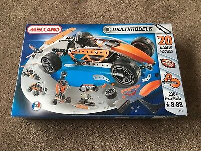 Meccano Set Racing Car Plus 20 More Models Age 8-88