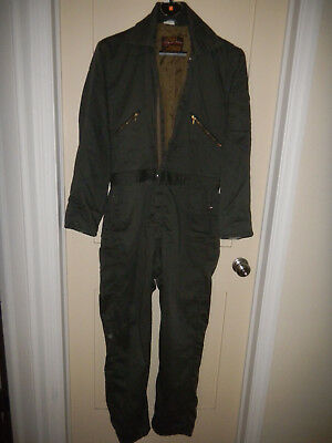 Vintage Walls Blizzard Pruf coveralls Dark Green Size Med.Tall - No Insulation.