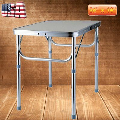 Foldable Table Aluminum Adjustable Outdoor Indoor Picnic Garden Camping Desk TO